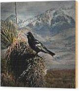 Raven Storm Wood Print