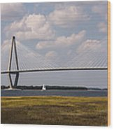 Ravenel Bridge 03 Wood Print