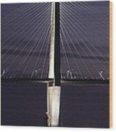 Ravenel Bridge Night View Wood Print