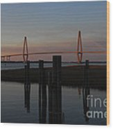 Ravenel From The Dock Wood Print