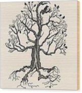 Raven's Magic Oak Wood Print
