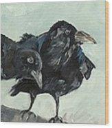 Raven's Perch Wood Print