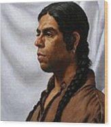 Raven's Portrait Wood Print by Deborah Allison