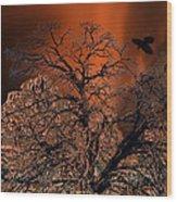 Ravens Tree Wood Print