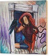 Raven's Wish Wood Print