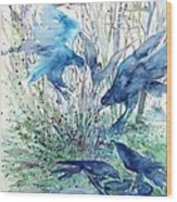 Ravens Wood Wood Print