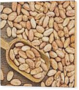 Raw Cacao Beans Wood Print