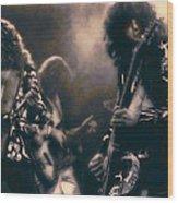 Raw Energy Of Led Zeppelin Wood Print