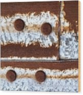 Raw Steel 2 Wood Print by Tom Druin