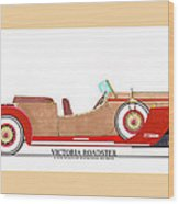 Ray Dietrich Packard Victoria Roadster Concept Design Wood Print