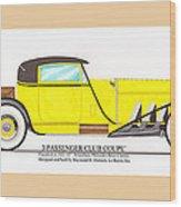 1922 Mercedes Benz By Raymond Dietrich Z Wood Print