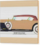 Raymond H Dietrich Packard Sport Phaeton Concept Wood Print