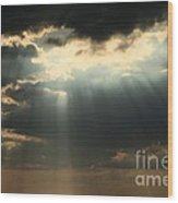 Rays From Heaven Wood Print