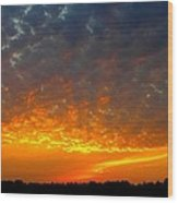 Rays Of Fire Wood Print