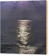 Rays Of Light Shimering Over The Waters Wood Print