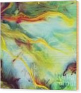 Rays Of The Sun Watercolor Abstraction Painting Wood Print
