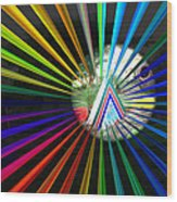 Rays To Triangle Wood Print