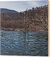 The Dam At Raystown Lake Wood Print