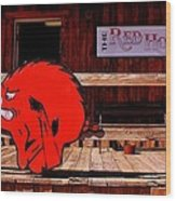 Razorback Country Wood Print by Benjamin Yeager