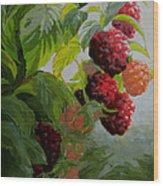 Razzleberries Wood Print
