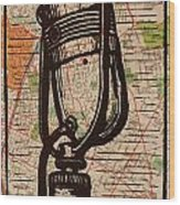 Rca 77 On Austin Map Wood Print by William Cauthern