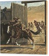 Re-closing Frontiersmen Coming Into The Fort Wood Print