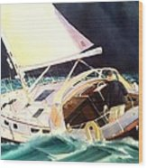 Reach For Safe Harbor Wood Print by Don F  Bradford
