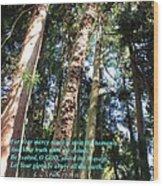 Reach Unto The Heavens Wood Print