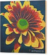 Reaching Bloom Wood Print