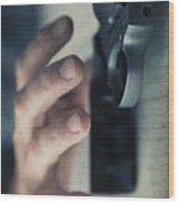 Reaching For A Gun Wood Print by Edward Fielding