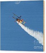 Reaching For The Moon. Oshkosh 2012. Postcard Border. Wood Print