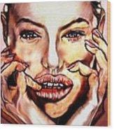 Read My Lips Wood Print