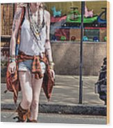 Redhead Crossing Main Street Wood Print