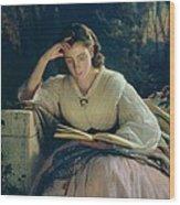 Reading Wood Print by Ivan Nikolaevich Kramskoy