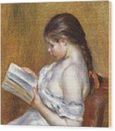 Reading Wood Print by Pierre Auguste Renoir