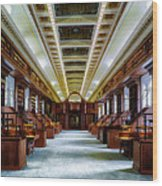 Reading Room In The Library Of Congress Wood Print