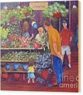 Reading Terminal Market Flowers Wood Print