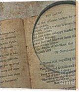 Reading The Raven Wood Print