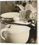 Ready For Afternoon Tea And Biscuits Wood Print
