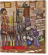 Ready For Sand Skiing Wood Print