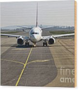 Ready For Take Off Wood Print