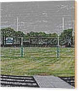 Ready For The Football Season Panorama Digital Art Wood Print