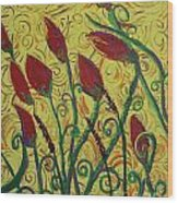Ready To Bloom Wood Print
