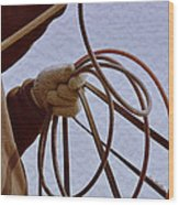 Ready To Rope Wood Print