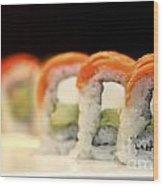 Ready To Serve Sushi  Wood Print