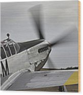 Ready To Taxie Wood Print by M K  Miller