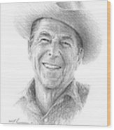 Reagan Drawing Mike Theuer Wood Print