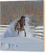 Real Horse Power Wood Print