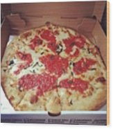 Real Italy Pizza Made Only For Me. Wow Wood Print