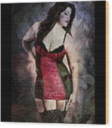 Real Woman Real Curves Wood Print